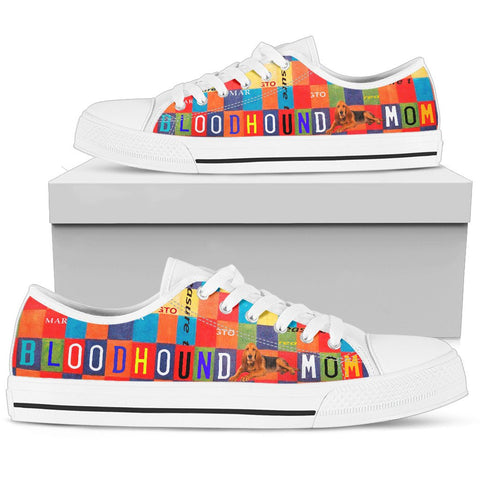 Bloodhound Mom Print Low Top Canvas Shoes For Women