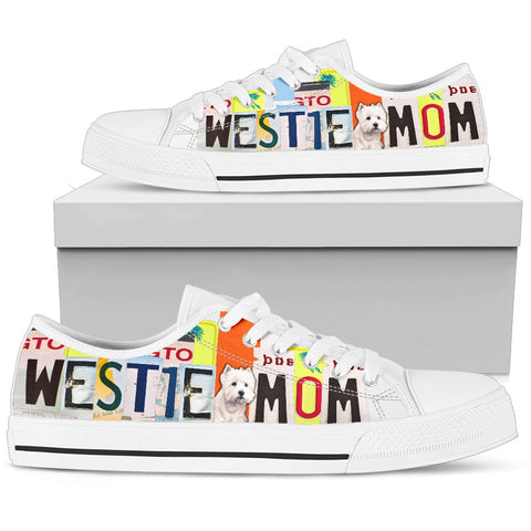 Westie Mom Print Low Top Canvas Shoes For Women