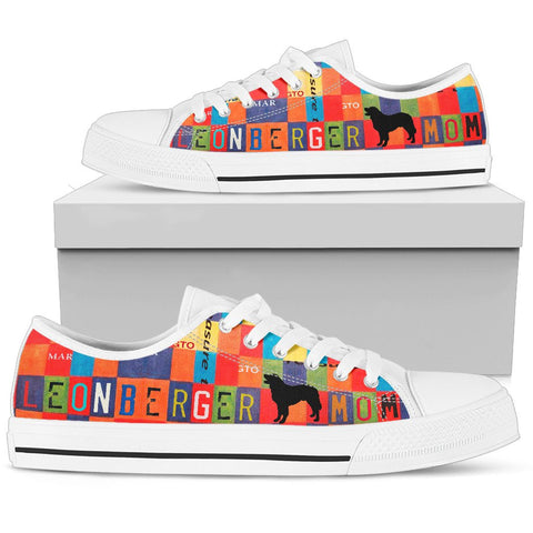 Leonberger Mom Print Low Top Canvas Shoes For Women