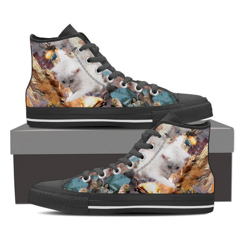 Cat Women's Canvas Shoes- Free Shipping