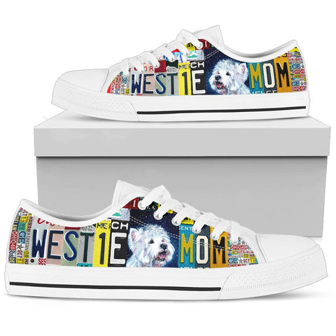 Women's Low Top Canvas Shoes For Westie Mom