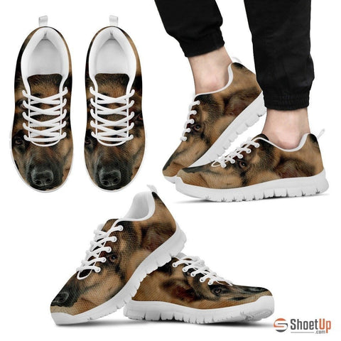 Amazing German Shepherd Print (Black/White) Running Shoes For Men-Free Shipping Limited Edition