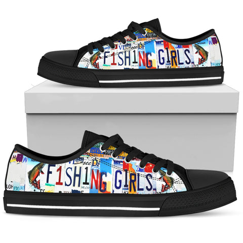 Fishing Girl Low Top Shoes