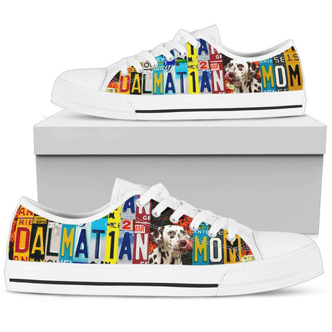 Women's Low Top Canvas Shoes For Dalmatian Mom