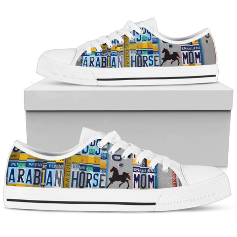 Women's Low Top Canvas Shoes For Arabian horse Mom