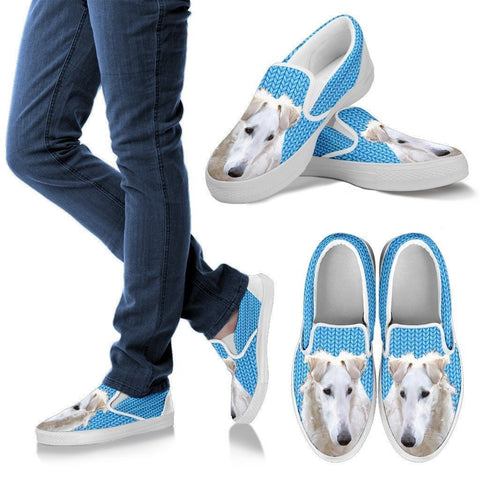 Borzoi Dog Print Slip Ons For Women-Express Shipping
