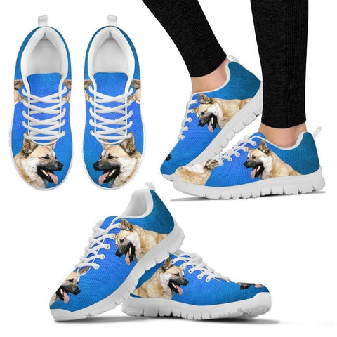 Norwegian Buhund Dog Print (Black/White) Running Shoes For Women-Limited Edition-Express Shipping