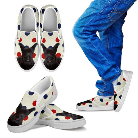 Skye Terrier Print Slip Ons For Kids-Express Shipping