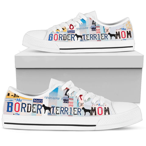 Border Terrier mom Print Low Top Canvas Shoes for Women