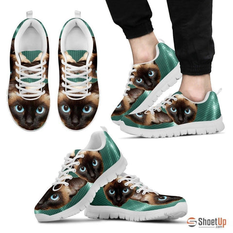 Siamese Cat Print Running Shoes For Men-Free Shipping