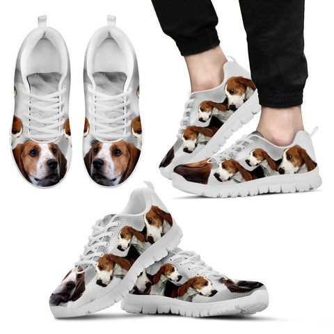 Treeing Walker Coonhound Print Sneakers For Men(White)- Express Shipping