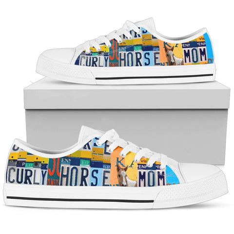 Curly Horse Mom Print Low Top Canvas Shoes For Women