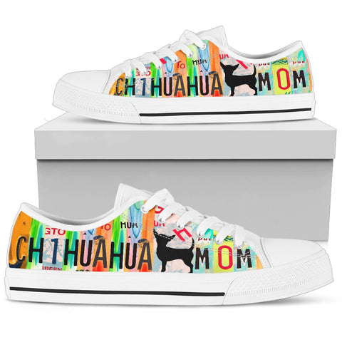 Chihuahua Mom Print Low Top Canvas Shoes For Women