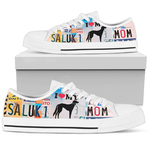 Saluki Mom Print Low Top Canvas Shoes for Women