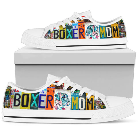 Women's Low Top Canvas Shoes For Boxer Dog Mom