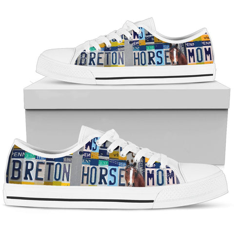 Women's Low Top Canvas Shoes For Breton Horse Mom