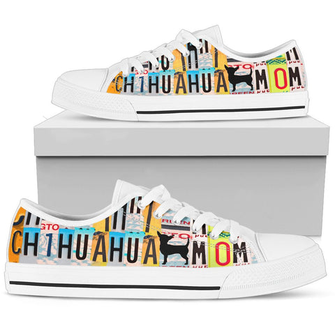 Women's Low Top Canvas Shoes For Chihuahua Mom