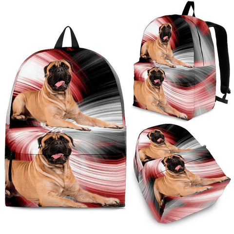English Mastiff Dog Print Backpack-Express Shipping
