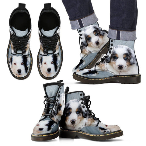 Australian Shepherd Print Boots For Men-Express Shipping