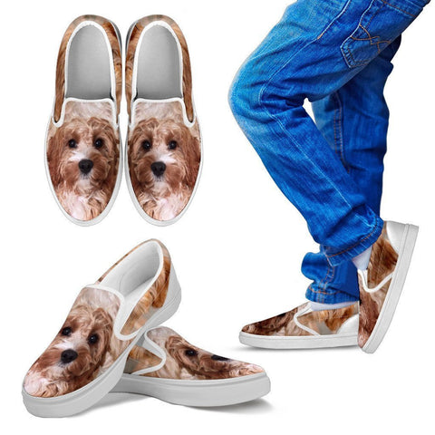 Cavapoo Print Slip Ons For Kids- Express Shipping