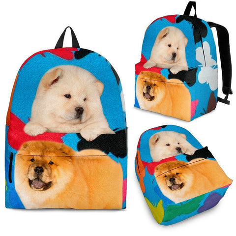 Chow Chow Dog Print Backpack-Express Shipping