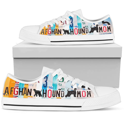 Afghan Hound Mom Print Low Top Canvas Shoes for Women