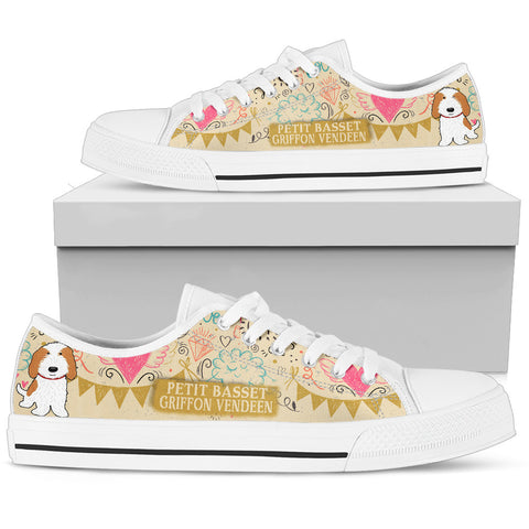 Petit Basset Griffon Vendéen Women's Low Top Shoe