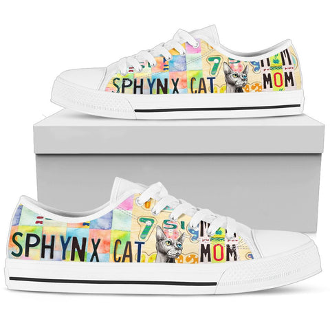 Women's Low Top Canvas Shoes For Sphynx Cat Mom