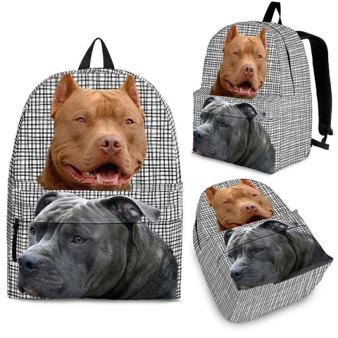 Pitbull Dog Print Backpack-Express Shipping