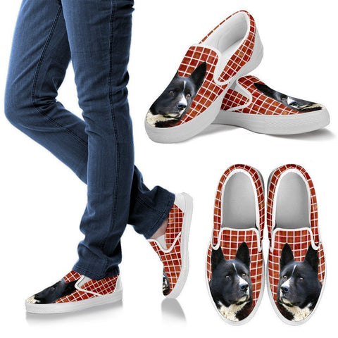 Karelian Bear Dog Print Slip Ons For Women-Express Shipping