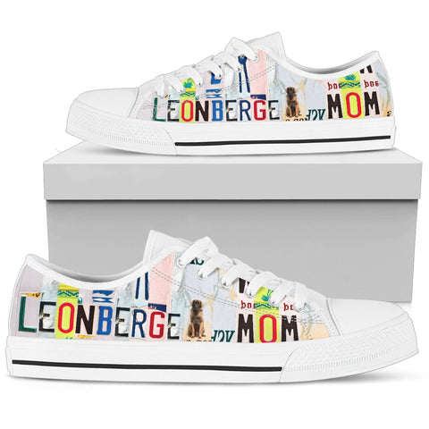 Women's Low Top Canvas Shoes For Leonberger Mom