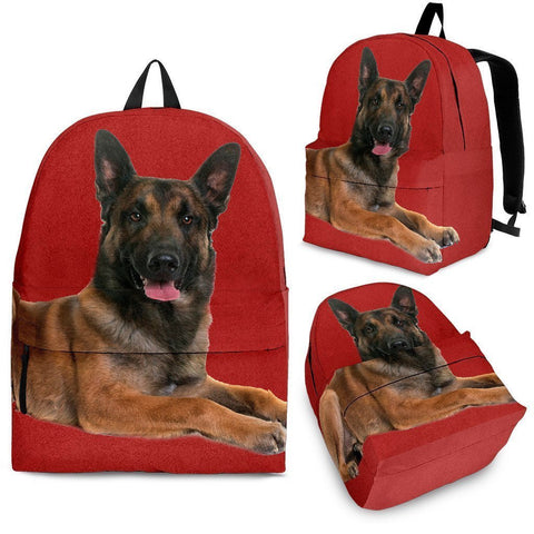 Belgian Malinois Dog Print Backpack-Express Shipping