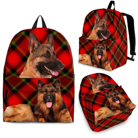 German Shepherd Dog Print Backpack-Express Shipping