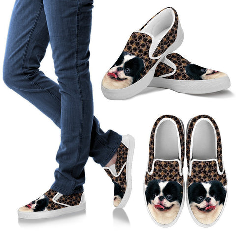 Japanese Chin Print Slip Ons For Women-Free Shipping