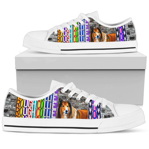 Women's Low Top Canvas Shoes For Rough Collie Mom