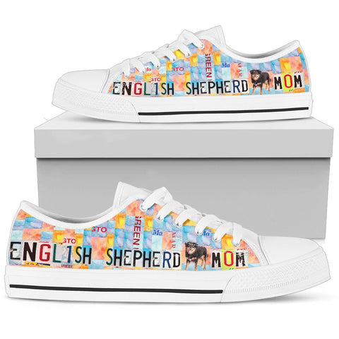 English Shepherd Mom Print Low Top Canvas Shoes For Women