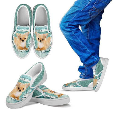 Cute Chihuahua Dog Print Slip Ons For Kids-Express Shipping