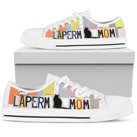 LaPerm Mom Print Low Top Canvas Shoes for Women