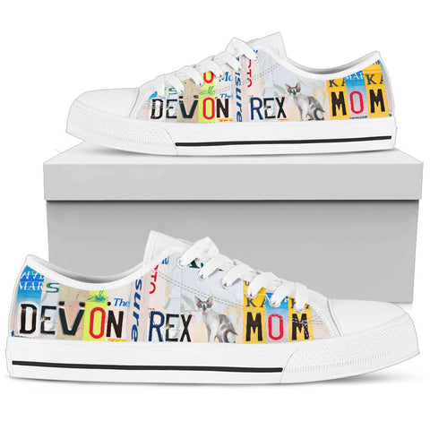 Women's Low Top Canvas Shoes For Devon Rex Mom