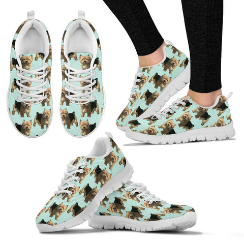 Norwich Terrier Pattern Print Sneakers For Women- Express Shipping
