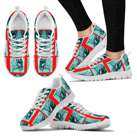 Saluki Dog Pattern Print Sneakers For Women- Express Shipping