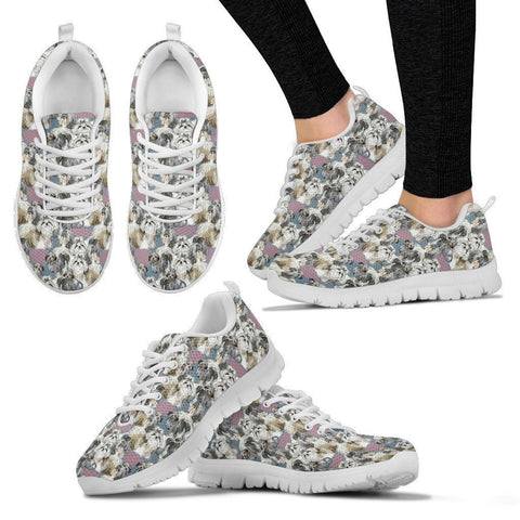 Shih Tzu Pattern Print Sneakers For Women- Express Shipping