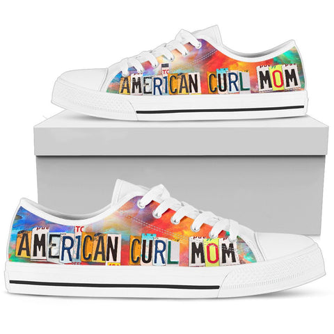 American Curl Mom Print Low Top Canvas Shoes for Women