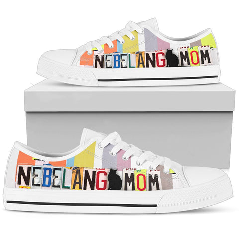 Nebelung Mom Print Low Top Canvas Shoes for Women