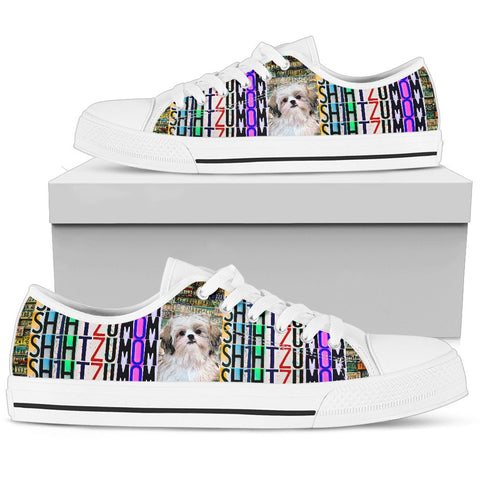 Women's Low Top Canvas Shoes For Shih Tzu Mom