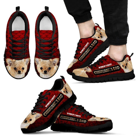 'World's Best Chihuahua Dad' Running Shoes-Father's Day Special