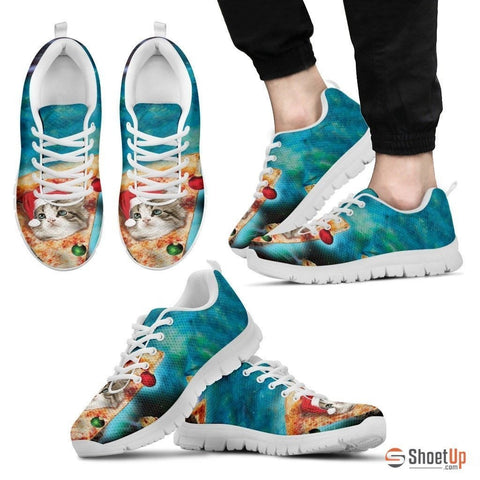 Cat On Pizza-Men's Running Shoes-Free Shipping