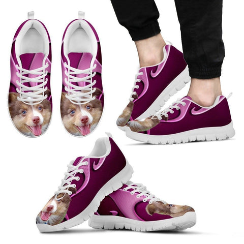 Miniature Australian Shepherd Dog Running Shoes For Men-Free Shipping
