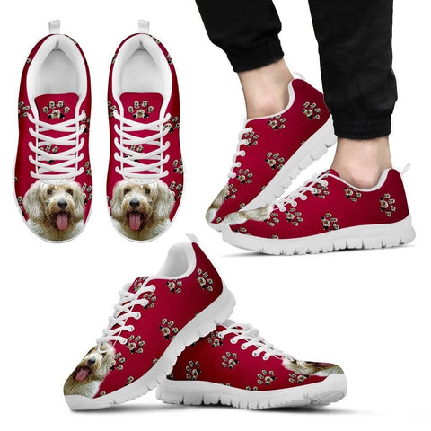 Petit Basset Griffon Vendeen Dog Print (White/Black) Running Shoes For Men- Express Shipping
