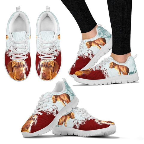 Shar Pei Basset Print Sneakers For Women- Express Shipping